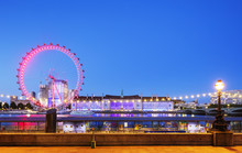 The London Eye, A Ferris Wheel...
