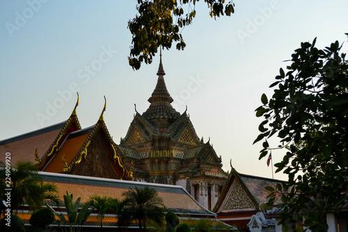 Deurstickers Bedehuis temple in bangkok