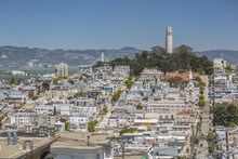 View Of Coit Tower From Russian Hill, San Francisco, California