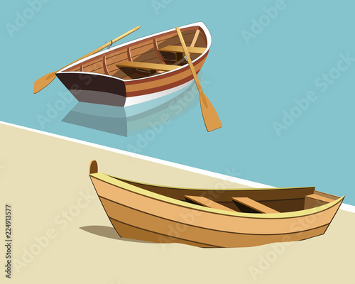Stampa su Tela boats