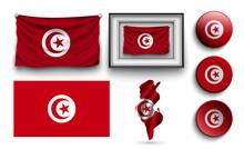Set Of Tunisia Flags Collectio...