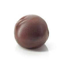 Chocolate Truffle On A White Background