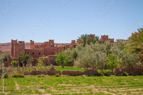 Foto  A traditional Berber city on the hillside