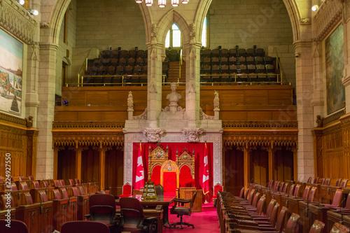 The Senate of Parliament Building, Ottawa, Canada. Fototapeta