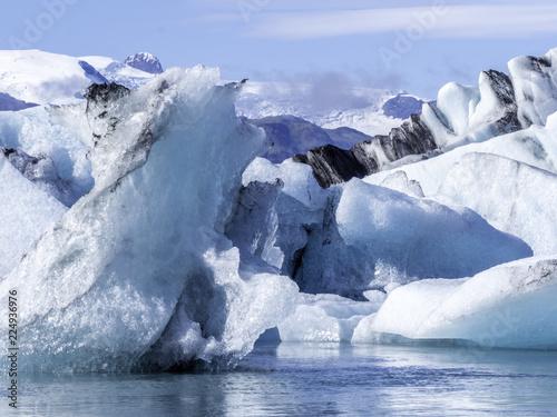 Scenic view of Jokulsarlon Glacier Lagoon in Iceland