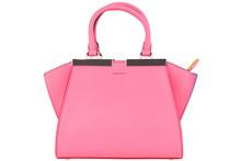 Bag On White Background. Women's Italian Branded Designer Bag Isolated.