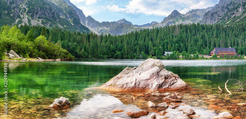 Poster Bergen Mountain lake High Tatras National Park