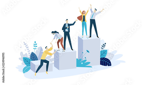 Tela Vector illustration concept of team building
