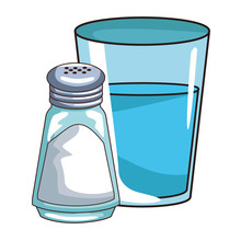 Water Glass And Salt Shaker