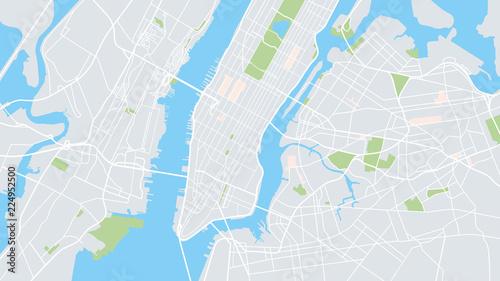 Fototapeta Mapa Nowego Jorku kolorowa ścienna
