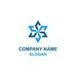 Abstract octagon star logo.