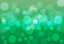 Abstract Green Bokeh Background. Abstract Gold Bokeh Background.