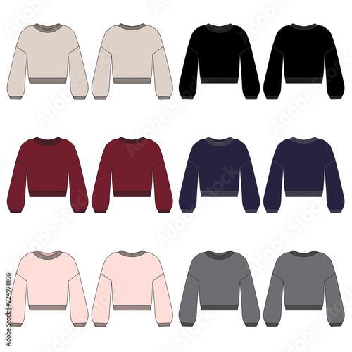 Photo Vector template for Womens Fashion Sweaters