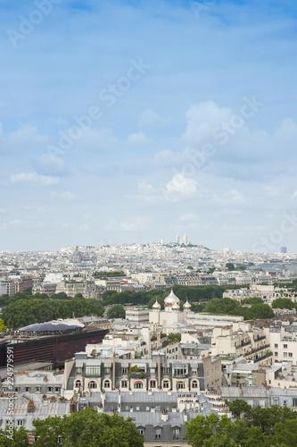 Staande foto Parijs Panorama di Parigi vista dalla cima della Torre Eiffel