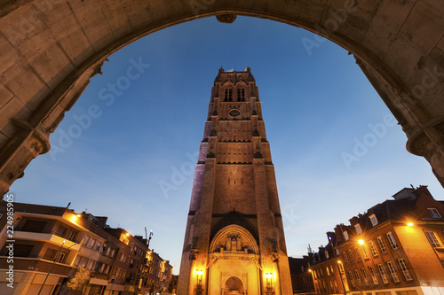 Fotografia Belfry of St Eloi Church in Dunkirk
