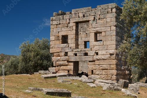 Foto op Aluminium Oude gebouw Ruins of the ancient town Alinda, Turkey