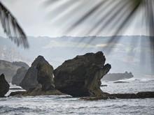 Big Stones Add More Attraction To A Coastal View At Bathsheba Beach, Eastern Part Of Barbados