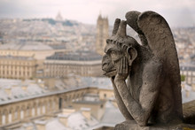 Thinking Figure Called Chimera Or Grotesque And The Panorama Of