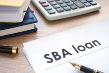 SBA Loan Form On An Office Tab...