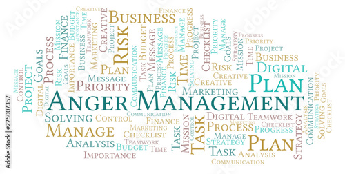 Anger Management word cloud, made with text only.