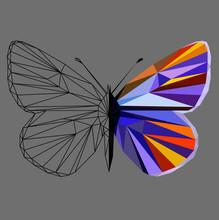 Butterfly Polygonal Low Poly W...