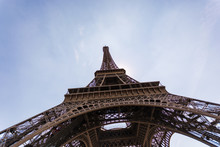 Closeup Architecture Of Eiffel...
