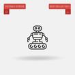 Outline Technological icon isolated on grey background. Line pictogram. Premium symbol for website design, mobile application, logo, ui. Editable stroke. Vector illustration. Eps10