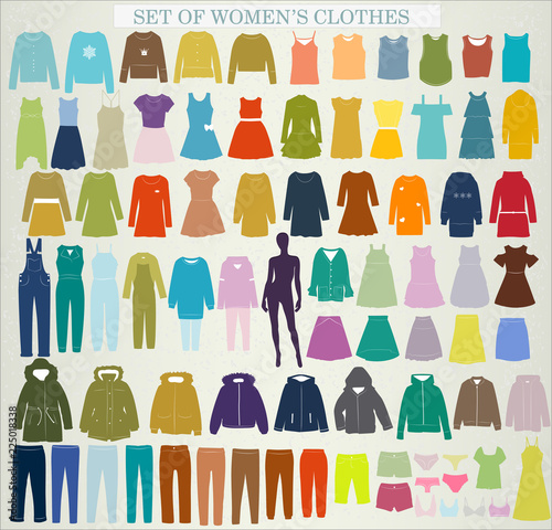 Photo Stands Draw Collection of women's clothing