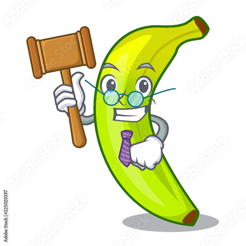 Foto  Judge fruit green bananas isolated on mascot
