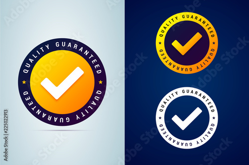 Pinturas sobre lienzo  Quality guaranteed - tested badge. Vector illustration with chec