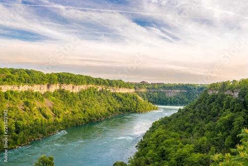 Printed kitchen splashbacks River View at the Niagara river in Canada