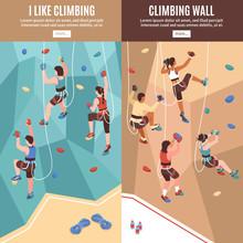 Climbing Vertical Banners Set