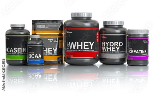 Fotografia  Sports  nutrition (supplements) for bodybuilding