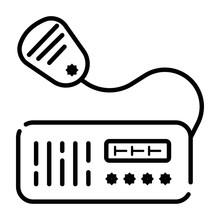 VHF Radio Transceiver Icon Vec...