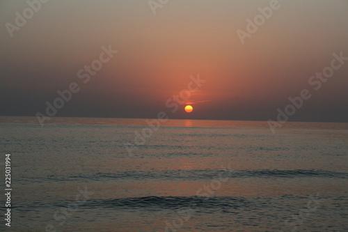 Fotobehang Zee zonsondergang Baltik sea