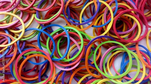 Fotografía  Rubber band is colourful