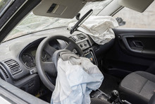 Airbag Exploded At A Car Accid...