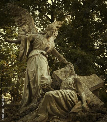 Keuken foto achterwand Begraafplaats Old graveyard tombstone