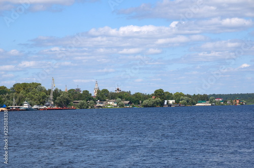View of the city of Ostashkov and lake Seliger in the Tver region, Russia