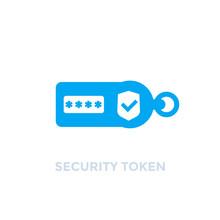 Security Token On White, Vector Icon