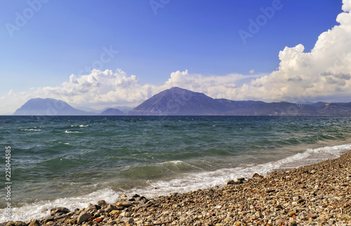 landscape of Rio beach Patras Achaia Peloponnese Greece
