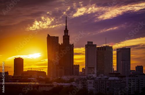 Fototapeta Warszawa zachód słońca obraz