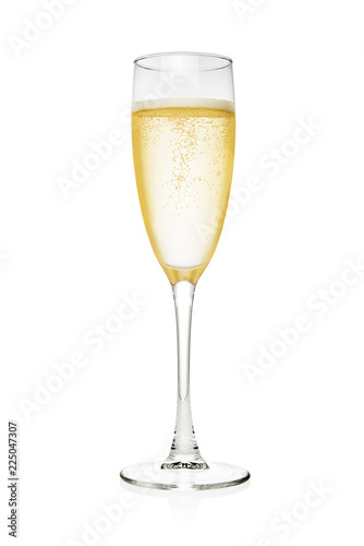 Fotografie, Obraz Glass of champagne isolated