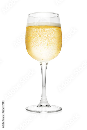 Obraz na plátně Glass of champagne isolated