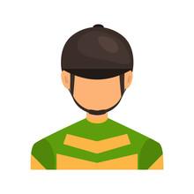 Horse Jockey Color Vector Icon...