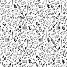 Seamless Pattern With Medical ...
