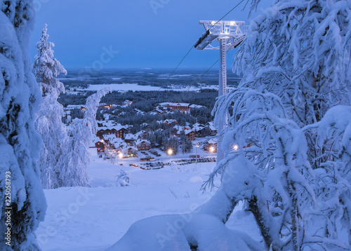 Photographie  Polar night in Levi ski resort