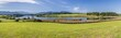 canvas print picture - Panorama Landschaft am Riegsee bei Murnau in Bayern