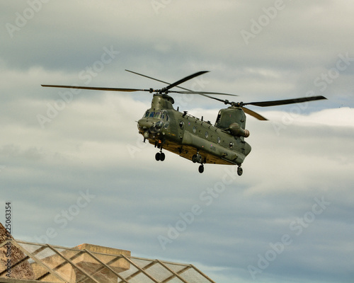 Chinook Helicopter coming in to land