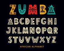 Vector Hand Drawn African Trib...